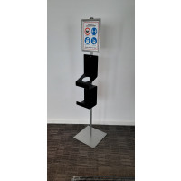 info display met dispenser en tissues of handschoenen houder
