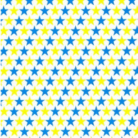 Cadeaupapier 'Stars blue/yellow'