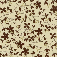 Cadeaupapier 'Brown flower'