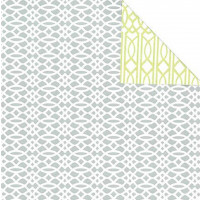 Cadeaupapier 'Geometric curves grey/green'