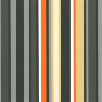 Cadeaupapier 'Stripe brown/orange'