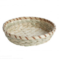 Grasmand naturel diameter 26 x 6 cm