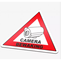 "pictogram 86x63mm ""camera bewaking"""