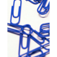 Paperclip blauw (100st.)