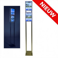 Combiled vrijstaande LED display 2x A4