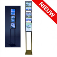 Combiled vrijstaande LED display 3x A4