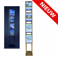 Combiled vrijstaande LED display 4x A4