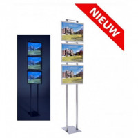 Combiled vrijstaande LED display 3x A3