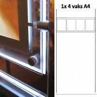 LED display raampresentatie 1x 4 vaks A4