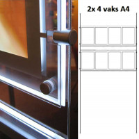 LED display raampresentatie 2x 4 vaks A4