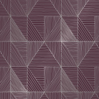 Cadeaupapier 'Triangle lines red'