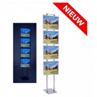 Combiled vrijstaande LED display 4x A3
